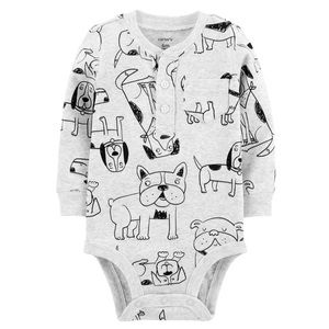 5/$25 Carter's Dog Print Bodysuit